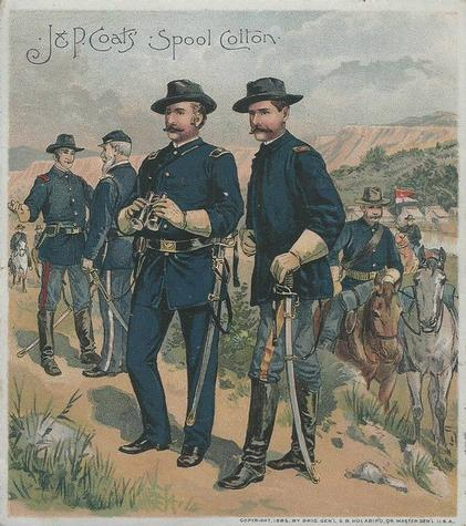 1895 J & P Coats Uniforms of the U.S. Army (H606) #NNO 1888-1893 Campaign Dress Front