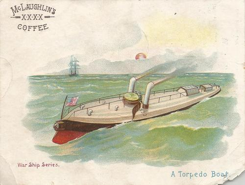 1889 McLaughlin Coffee War Ship Series (K65) #NNO A Torpedo Boat Front