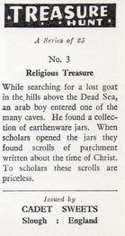1964 Cadet Sweets Treasure Hunt #3 Religious Treasure Back
