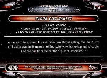 Star Wars Galactic Files 2018 Locations Chase Card L-2 Cloud City Gantry