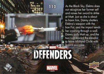 2018 Upper Deck Marvel's The Defenders #110 Come On! Back