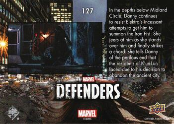 2018 Upper Deck Marvel's The Defenders #127 Ran from Destiny Back