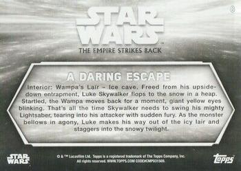 2019 Topps Star Wars Black & White: The Empire Strikes Back #8 A Daring Escape Back