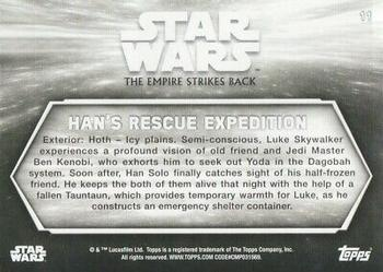 2019 Topps Star Wars Black & White: The Empire Strikes Back #11 Han's Rescue expedition Back