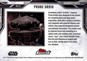 2018 Topps Finest Star Wars - Droids and Vehicles #DV-15 Probe Droid Back