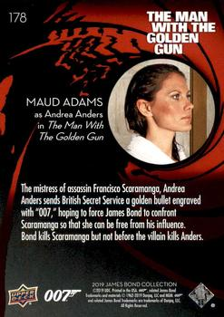 James Bond Collection SSP Base Card #178 Maud Adams as Andrea Anders