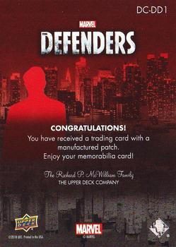 2018 Upper Deck Marvel's The Defenders - Defenders Connecting Manufactured Patch #DC-DD1 Daredevil Back