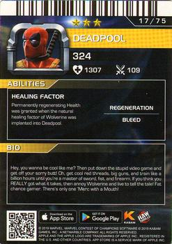 2019 Dave and Busters Marvel Contest of Champions - Foil #17 Deadpool Back