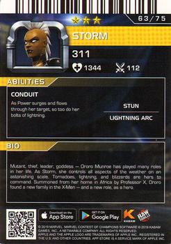 2019 Dave and Busters Marvel Contest of Champions - Foil #63 Storm Back
