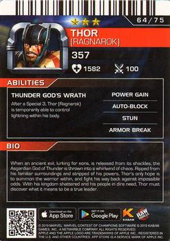 2019 Dave and Busters Marvel Contest of Champions - Foil #64 Thor Back
