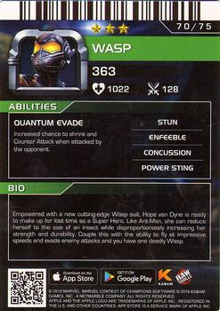 2019 Dave and Busters Marvel Contest of Champions - Foil #70 WASP Back