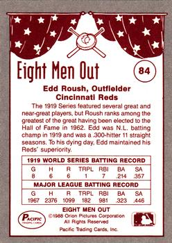 1988 Pacific Eight Men Out #84 Edd Roush Back