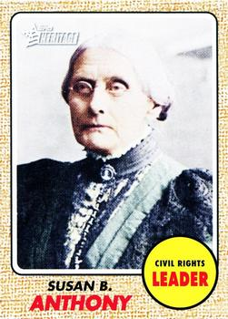 2009 Topps American Heritage #56 Susan B. Anthony Front