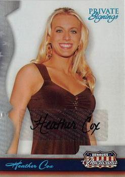 2007 Donruss Americana - Private Signings #60 Heather Cox Front
