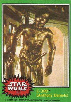 1977 Topps Star Wars #207 C-3PO (Anthony Daniels) Front