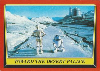 1983 Topps Return Of The Jedi #11 Toward the Desert Palace Front