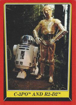 1983 Topps Return Of The Jedi #8 C-3PO and R2-D2 Front