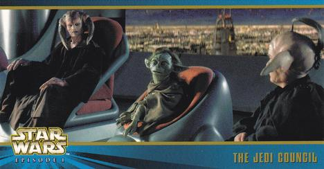 1999 Topps Star Wars Episode I Widevision Series 2 #13 The Jedi Council Front