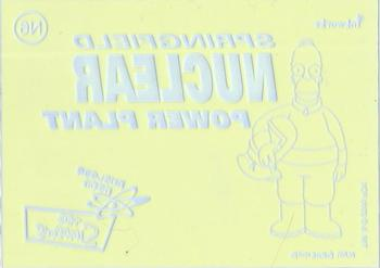 Simpsons 10th Anniversary Nuclear Neon Chase Card N4