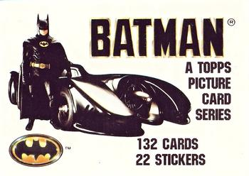 1989 Topps Batman #1 Cover Card Front