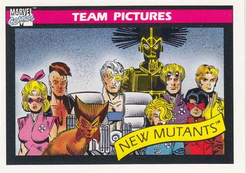 1990 Impel Marvel Universe #142 New Mutants Front