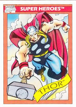 1990 Impel Marvel Universe #18 Thor Front
