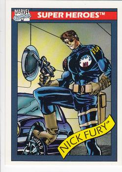 1990 Impel Marvel Universe #5 Nick Fury Front