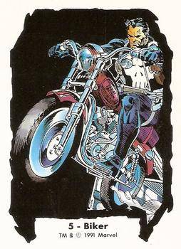 1991 Comic Images Marvel Comics Jim Lee II #5 Biker Front