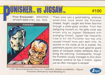 1991 Impel Marvel Universe II #100 Punisher vs. Jigsaw Back