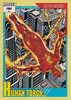 1991 Impel Marvel Universe II #10 Human Torch Front