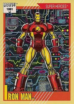 1991 Impel Marvel Universe II #13 Iron Man Front