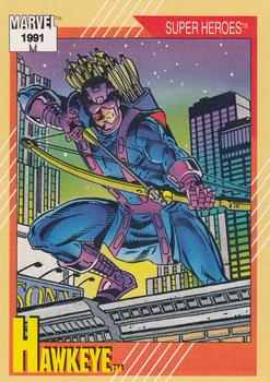 1991 Impel Marvel Universe II #20 Hawkeye Front