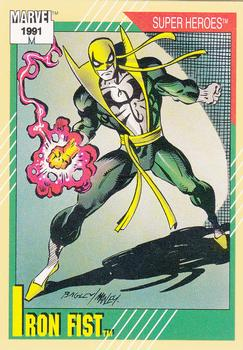 1991 Impel Marvel Universe #28 Iron Fist Front