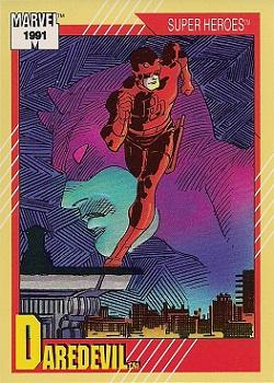 1991 Impel Marvel Universe II #2 Daredevil Front