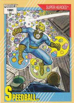 1991 Impel Marvel Universe II #34 Speedball Front