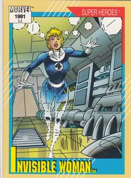 1991 Impel Marvel Universe II #41 Invisible Woman Front