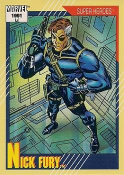 1991 Impel Marvel Universe II #52 Nick Fury Front