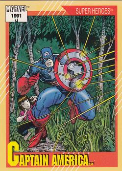 1991 Impel Marvel Universe #54 Captain America Front
