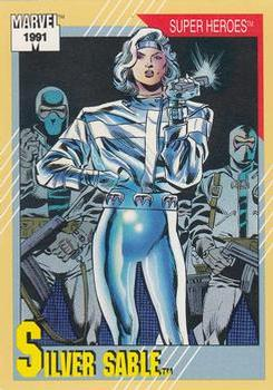 1991 Impel Marvel Universe II #21 Silver Sable Front