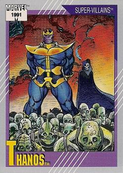 1991 Impel Marvel Universe II #85 Thanos Front