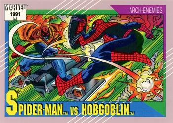 1991 Impel Marvel Universe II #98 Spider-Man vs. Hobgoblin Front