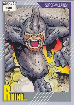1991 Impel Marvel Universe II #73 Rhino Front