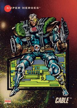 1992 Impel Marvel Universe #50 Cable Front
