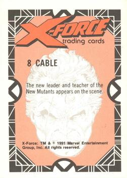 1991 Comic Images X-Force #8 Cable Back
