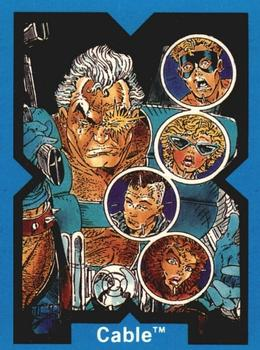 1991 Comic Images X-Force #8 Cable Front