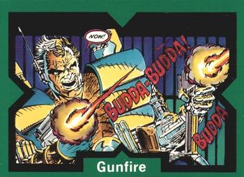 1991 Comic Images X-Force #15 Gunfire Front
