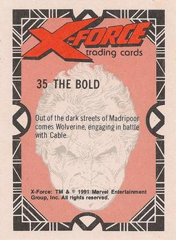 1991 Comic Images X-Force #35 The Bold Back