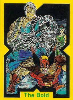 1991 Comic Images X-Force #35 The Bold Front