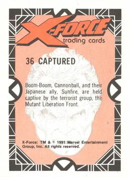 1991 Comic Images X-Force #36 Captured Back