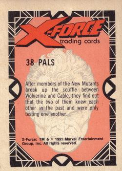 1991 Comic Images X-Force #38 Pals (Cable) / Wolverine Back